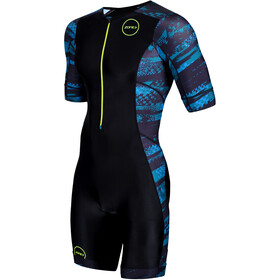 Zone3 Activate+ Combinaison de triathlon manches courtes Homme, stealth speed-black/grey/teal